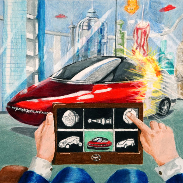 Transforming Car kids art contest entry 2019 by Brian Hoyun Kim middle school student
