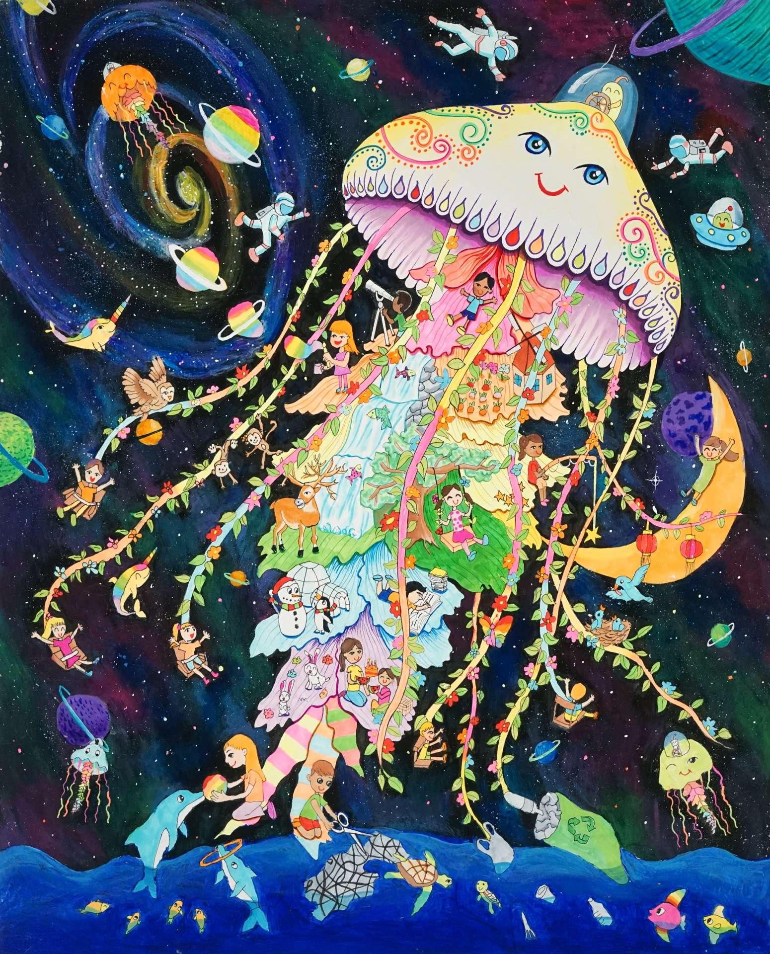 GOLD AWARD (Category 2): The Jellyfish Car by Grace Sun