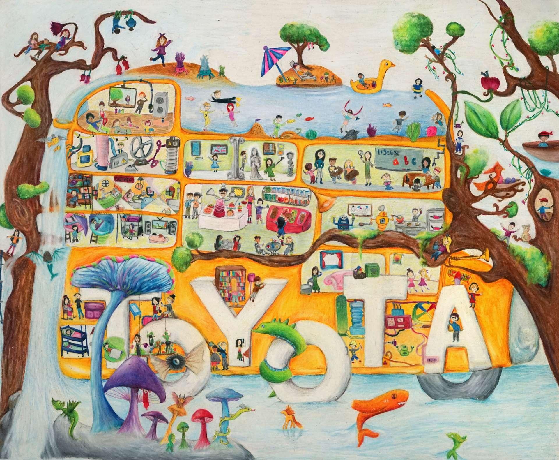 SILVER AWARD (Category 2): Surrealism Car by Ashley Han